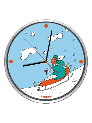 Часы настенные Mitya Veselkov. Цвет: голубой, белый