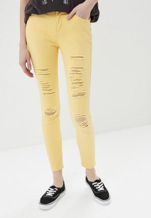 Брюки G&G. Цвет: желтый