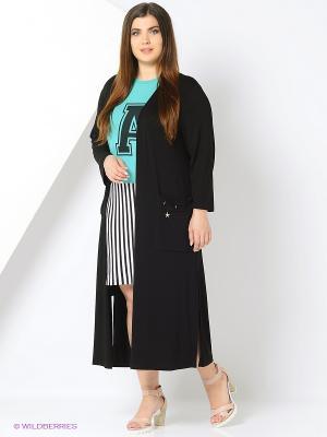 Комплект одежды Amelia Lux. Цвет: белый, черный, бирюзовый
