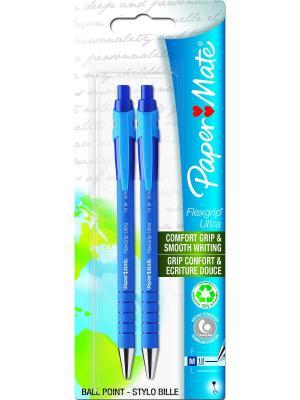 Ручка шариковая FLEXGRIP ULTRA, синяя, 2 шт Paper Mate.. Цвет: синий