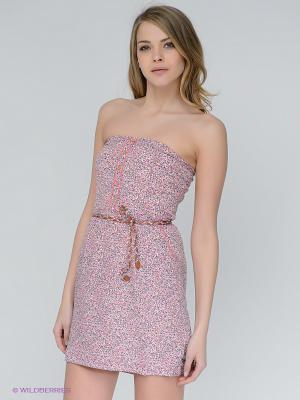 Платье Le Temps des Cerises. Цвет: розовый, зеленый, оранжевый