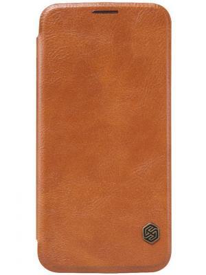 Чехол Qin leather case для Samsung Galaxy S6 Nillkin. Цвет: коричневый