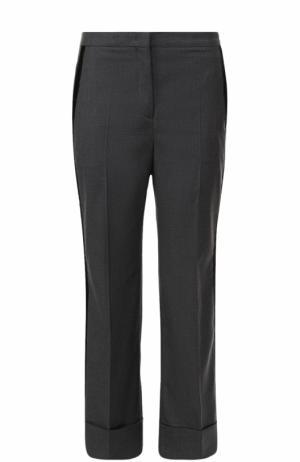 Укороченные расклешенные брюки со стрелками No. 21. Цвет: серый