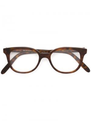 Округлые оптические очки Cutler & Gross. Цвет: коричневый