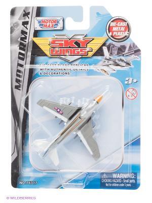 Коллекционная игрушка Самолет EA6A Intruder Motormax. Цвет: серебристый
