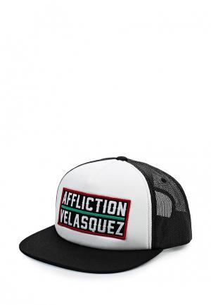 Бейсболка Affliction. Цвет: черный