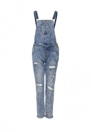Комбинезон джинсовый LOST INK. Цвет: голубой