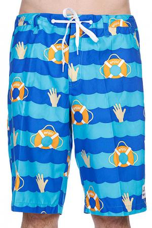 Шорты пляжные  Cant Swim Trunk Blue Enjoi. Цвет: голубой,синий