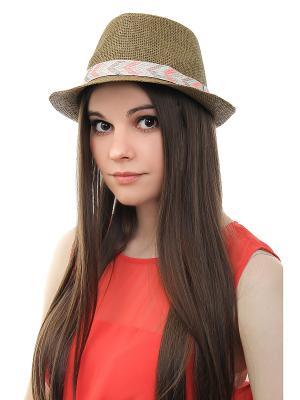 Шляпа Gusachi. Цвет: коричневый, розовый