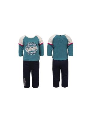 Комплект Children Wear. Цвет: зеленый, темно-синий