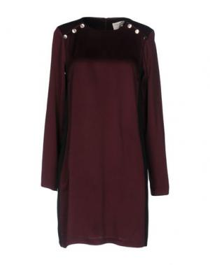 Короткое платье SONIA DE NISCO. Цвет: красно-коричневый