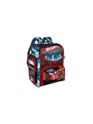 Ранец Premium Box Hot Wheels жесткий корпус Mattel. Цвет: черный