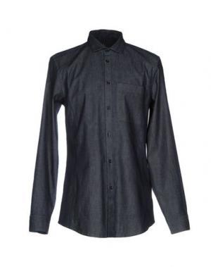 Джинсовая рубашка HIGH. Цвет: синий