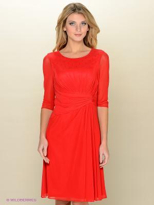 Платье Vera Mont. Цвет: красный