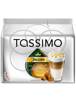 Капсулы T-диски Tassimo Jacobs Latte Macchiao Caramel 16 шт. (8 эспрессо, 8 молочных). Цвет: черный