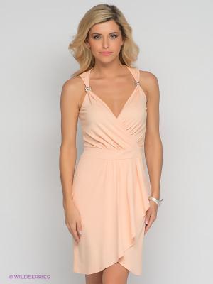 Платье V&V. Цвет: персиковый
