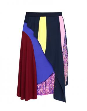 Юбка с принтом Peter Pilotto. Цвет: синий, розовый, бордовый, желтый