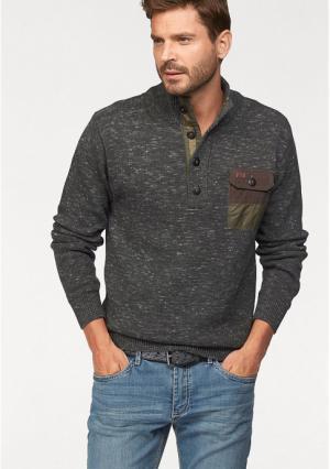 Пуловер Arizona. Цвет: темно-серый меланжевый