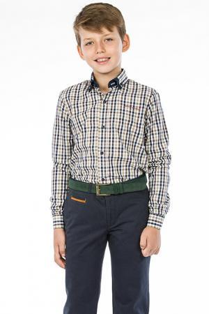 Рубашка TUGI KIDS. Цвет: бежевый