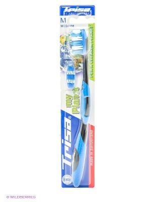 Зубная щетка My Planet TRISA. Цвет: голубой