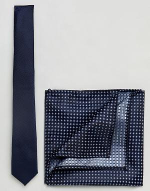 Burton Menswear Темно-синий галстук. Цвет: темно-синий