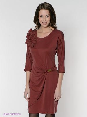 Платье FRENCH HINT. Цвет: светло-коричневый