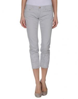 Джинсовые брюки-капри DONDUP. Цвет: светло-серый