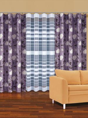 Комплект штор Haft. Цвет: лиловый