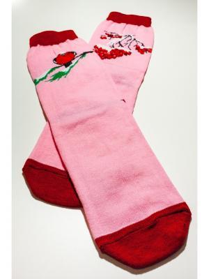 Носки махровые Big Bang Socks. Цвет: розовый