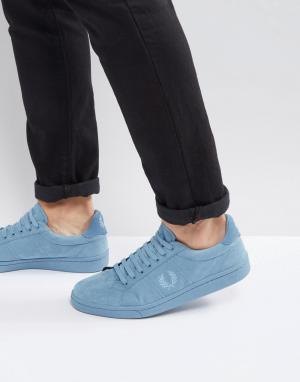 Fred Perry Синие хлопковые кроссовки B721. Цвет: синий