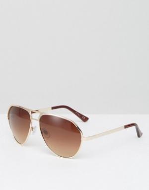Jeepers Peepers Солнцезащитные очки-авиаторы с коричневыми градуированными стеклами Je. Цвет: коричневый