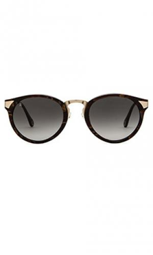 Солнцезащитные очки nera RAEN. Цвет: коричневый
