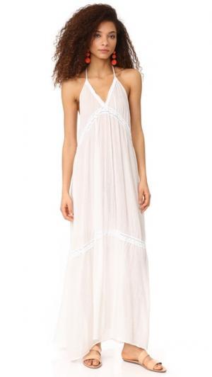 Кружевное платье Laguna с американской проймой 9seed. Цвет: белый