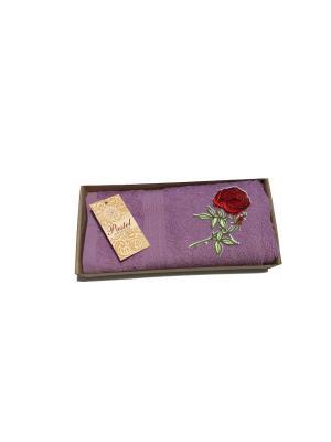 Полотенце Роза 40х70. La Pastel. Цвет: сиреневый