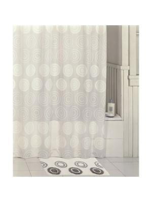 Штора для ванной IDDIS. Цвет: серый