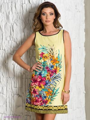 Платье Rene Derhy. Цвет: светло-желтый