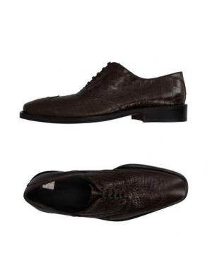 Обувь на шнурках SIMONE MARIOTTI. Цвет: зеленый-милитари