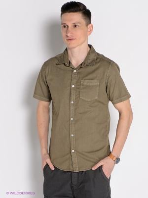 Рубашка Mezaguz. Цвет: оливковый