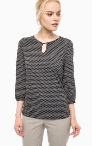 Блуза из полиамида с принтом olsen. Цвет: черный