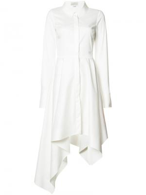 Асимметричное платье-рубашка Monse. Цвет: белый