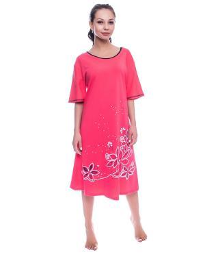 Ночная сорочка NICOLETTA. Цвет: коралловый