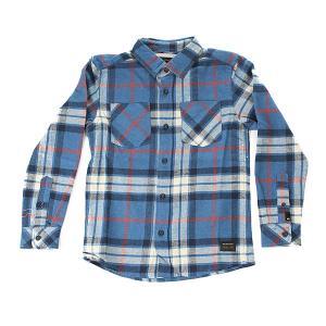 Рубашка в клетку детская  Fitz Thrower yth Star Sap Quiksilver. Цвет: бежевый,синий