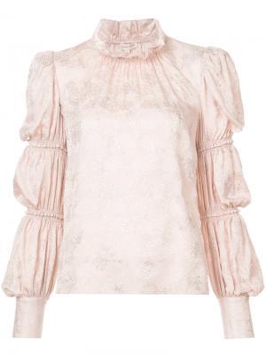 Блузка с оборками Rebecca Taylor. Цвет: розовый и фиолетовый
