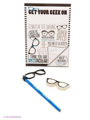 Канцелярский набор Men Glasses Kawaii Factory. Цвет: черный