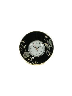 Часы Бархатная ночь Русские подарки. Цвет: черный