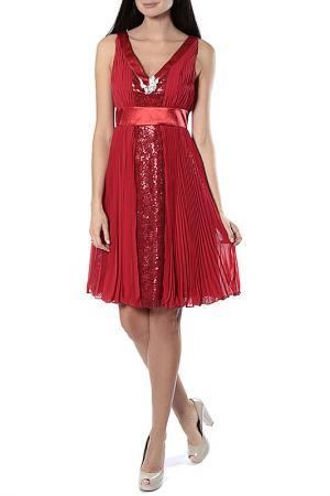 Платье Aftershock. Цвет: красный