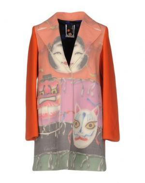 Пальто GIULIA ROSITANI. Цвет: абрикосовый