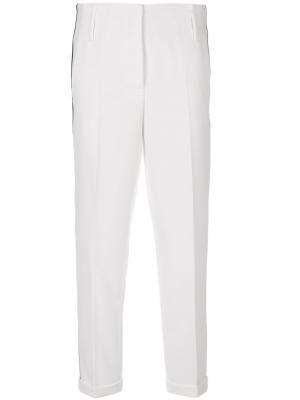 Классические брюки Luisa Cerano. Цвет: белый