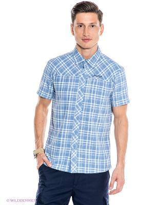 Рубашка Bergans. Цвет: синий, белый