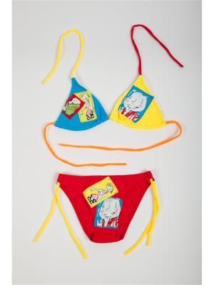Купальник детский для девочек La Pastel. Цвет: красный, желтый, голубой